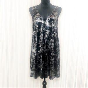 NWT Final Touch Velvet vneck Dress